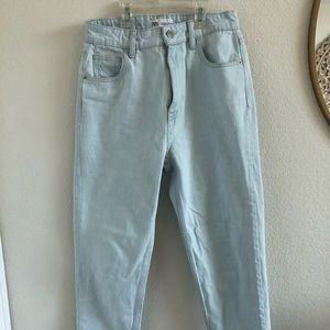 NWOT ZARA Light Wash Straight Leg Denim